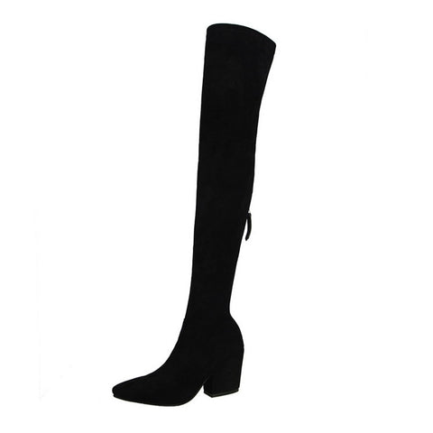 suede over knee long boots RI