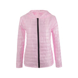 Jackets Slim O-neck Ladies Parkas  Zipper