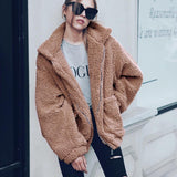 jacket coat Winter black warm hairly Women autumn