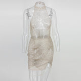 Transparent Halter Sequined Dress SE