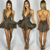 Playsuit Women Bodysuit Shorts Jumpsuit Sexy