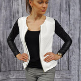 Jackets Casual Slim Suit Cardigan White Grey Outwear Blusa Plus Size