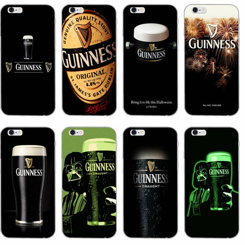 Flexible guinness beer slim Soft phone case For iPhone 4 4s 5 5s 5c SE 6 6s plus 7 7plus 8 8plus X