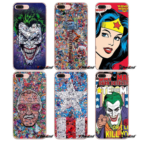 For Samsung Galaxy S9 Plus Note 8 One Plus oneplus 5T Meizu M5s LG V30 HTC U11 Superheros Wonder Woman Soft Cell Phone Case