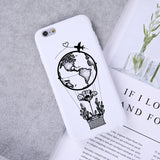 Silicone World Map Travel Airplane Phone Case For iPhone SE