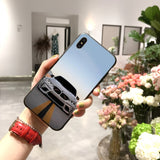 Blue Red Car for Bmw Bags Custom Photo Soft Phone Case SE
