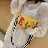 Potato Chips Crossbody Handbag Canvas Mini Cartoon Bags SE