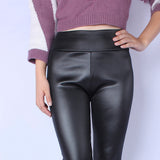 Pants High Waist Leather