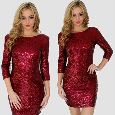 Dress Sequin  Women Sexy