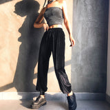 Harem High Waist Loose Casual Pocket Velvet Wide Leg Pants SE