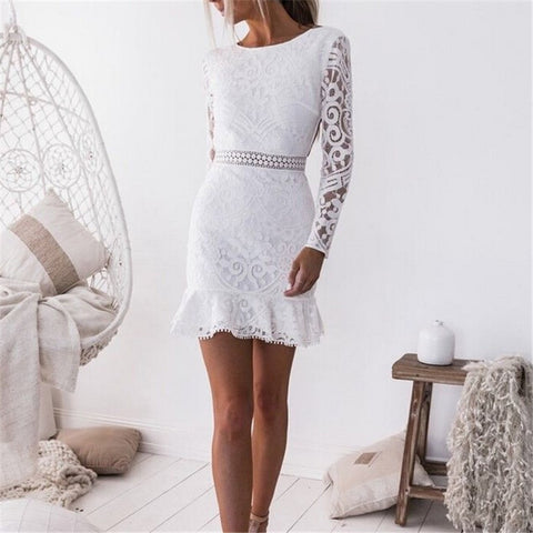 White Lace Dress SE