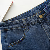 Women Bottoms Female High Waist Shorts Jeans