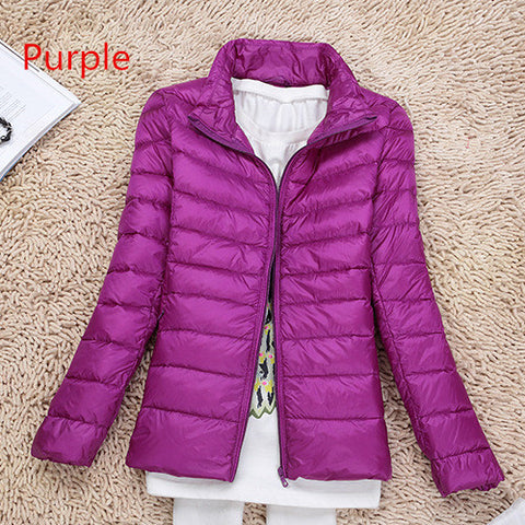 Jackets Autumn Womens Duck Down Fashion Coat Long Sleeved