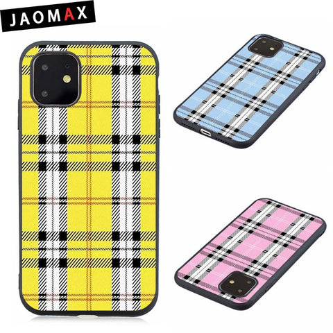 Yellow Plaid Phone Case For iphone SE