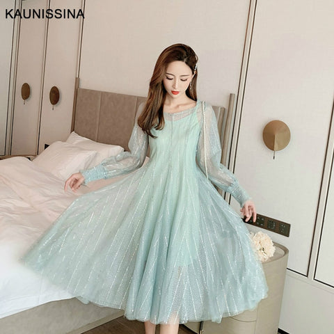 Sequin Long Cocktail Tulle Two Piece Long Sleeve Homecoming Dress SE