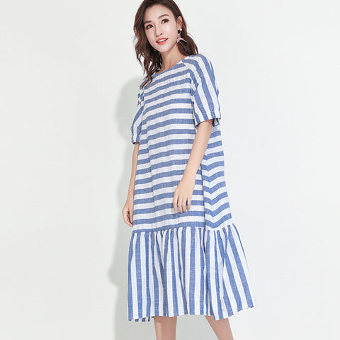 dress Summer Spring New Fashion Striped