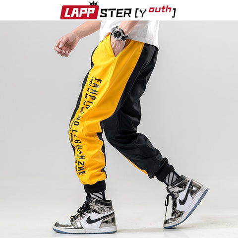 Male Hip Hop Track Pants Yellow Trousers RI