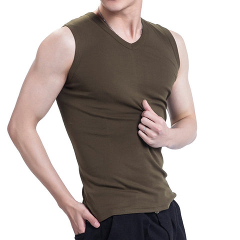 fa357b097bc27 Tank Tops Solid Color Singlets Sleeveless Fitness Mens Vest Bodybuilding
