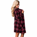 Winter Pockets Jumper Checkered Button Up Hooded Cardigan   SU