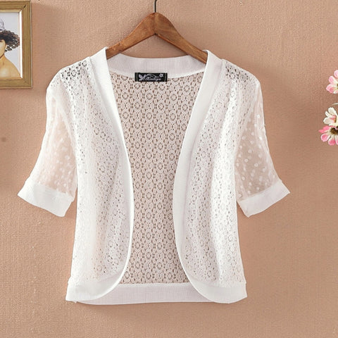 Jacket White Open Cardigan Tops Bathing Suit Beach