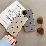 Texture Love Heart Wave Point Phone Case SE