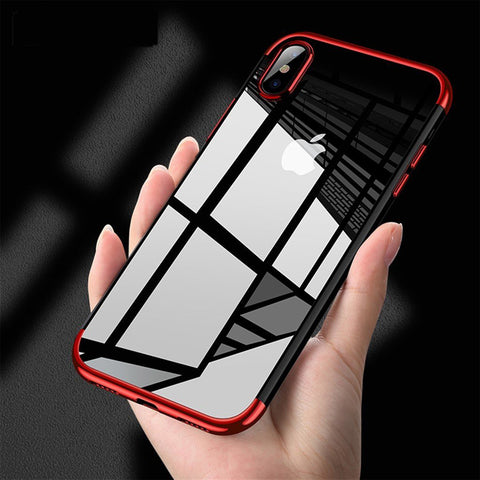 Transparent phone Case for iPhone X  TPU Soft plated Mobile Phone Back Shell for iPhone X Case Apple 10
