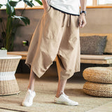 Pants large Chinese  flaxen