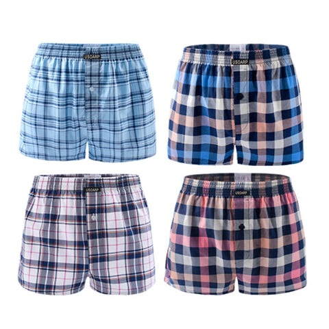 men boxer plaid pants