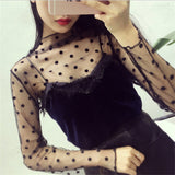 Long Sleeve Ruffled Star Polka Dots PU22