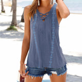 tank top beach faux silk