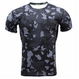 T Shirt Fitness Tights Camouflage