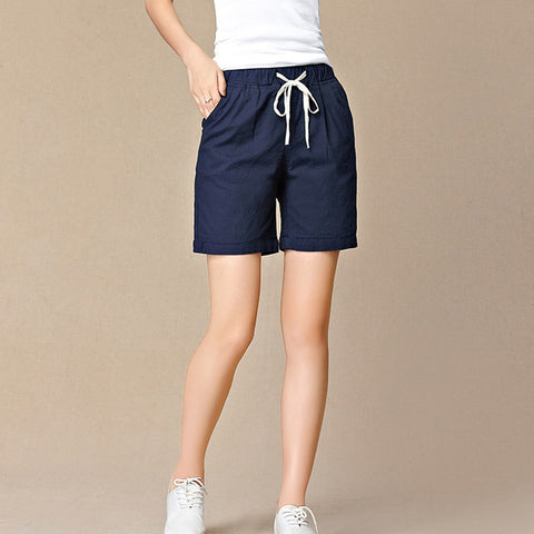 high waist Pleated Loose Bow short Pants
