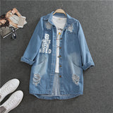Jackets Spring Autumn Denim Middle Long