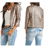 Jackets Three Quaters Sleeves Outwear Coats Female Casual