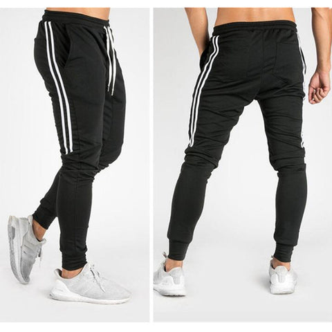 Fitness Joggers Male Side Stripe Harem Pants RI