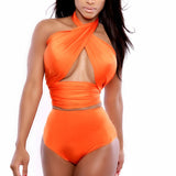 Bikini Orange Halter Swimwear
