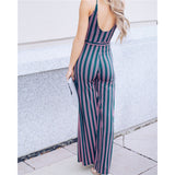 Women Striped Long Loose Wide Leg Pants