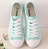 Shoes Canvas Casual Lace-Up Cute Spring