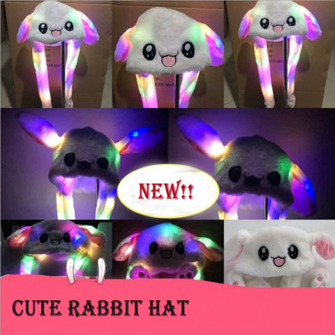 Rabbit Bunny Ears Will Move The Rabbit Hat Cute SE