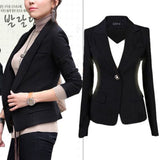 Jacket Long Sleeve Black Slim