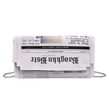 Newspaper Print Handbags Bags Fanny Belt SE