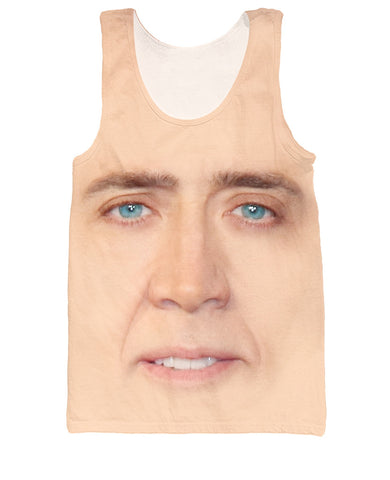 Tank Top giant blown up face