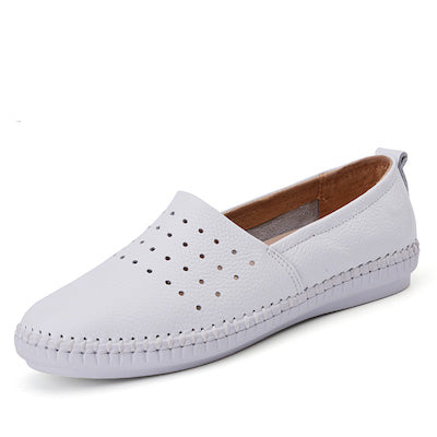 shoes Genuine leather cut out slip on