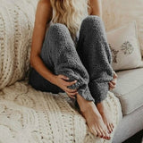 Oversized Fuzzy Fleece Pants RI