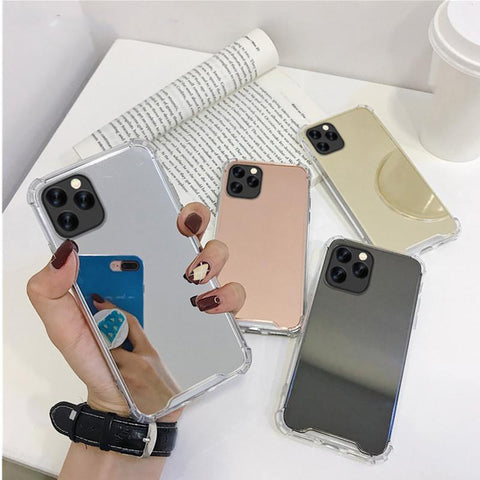 Plating Mirror Silicone Phone Case RI