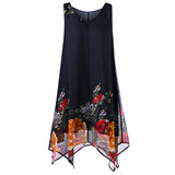 dress women Vintage  Boho Beach Chiffon Sleeveless