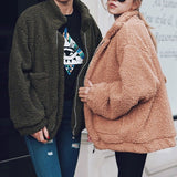 Fluffy Faux Fur Bomber Jackets