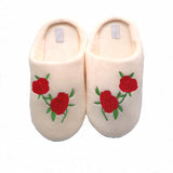 Shoes Soft Coral Velvet Floor Cotton Fluffy Slippers For Women Comfortable
