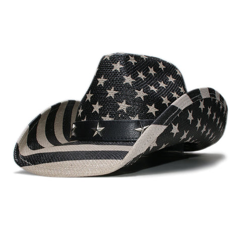 Cowboy Cowgirl Hat Leather Star RI