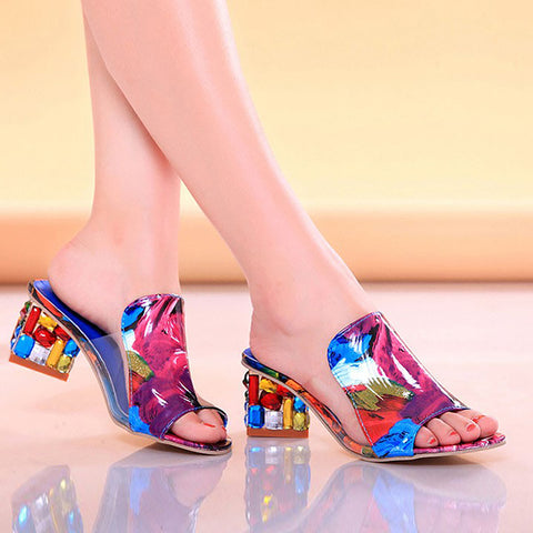 8850a483728 Shoes Rhinestone Sexy woman High Heels